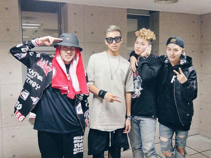 Supreme Boi, Joon ,Yoongi and Hobi
