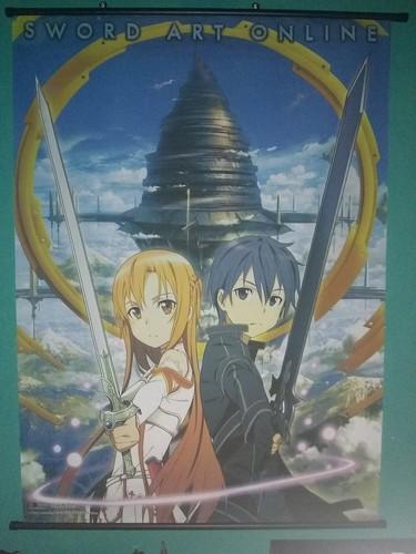 बिना सोचे समझे वॉलपेपर titled Sword Art Online दीवार Scroll Poster