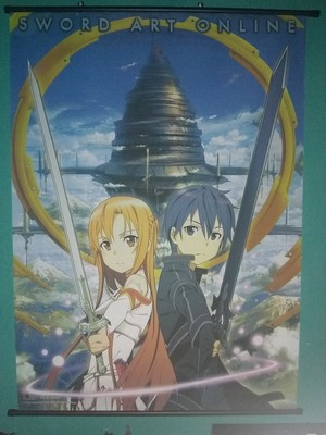 Sword Art Online dinding Scroll Poster