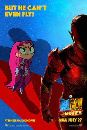 Teen Titans Go! to the 电影院 Poster: The Flash - But he can't even fly!