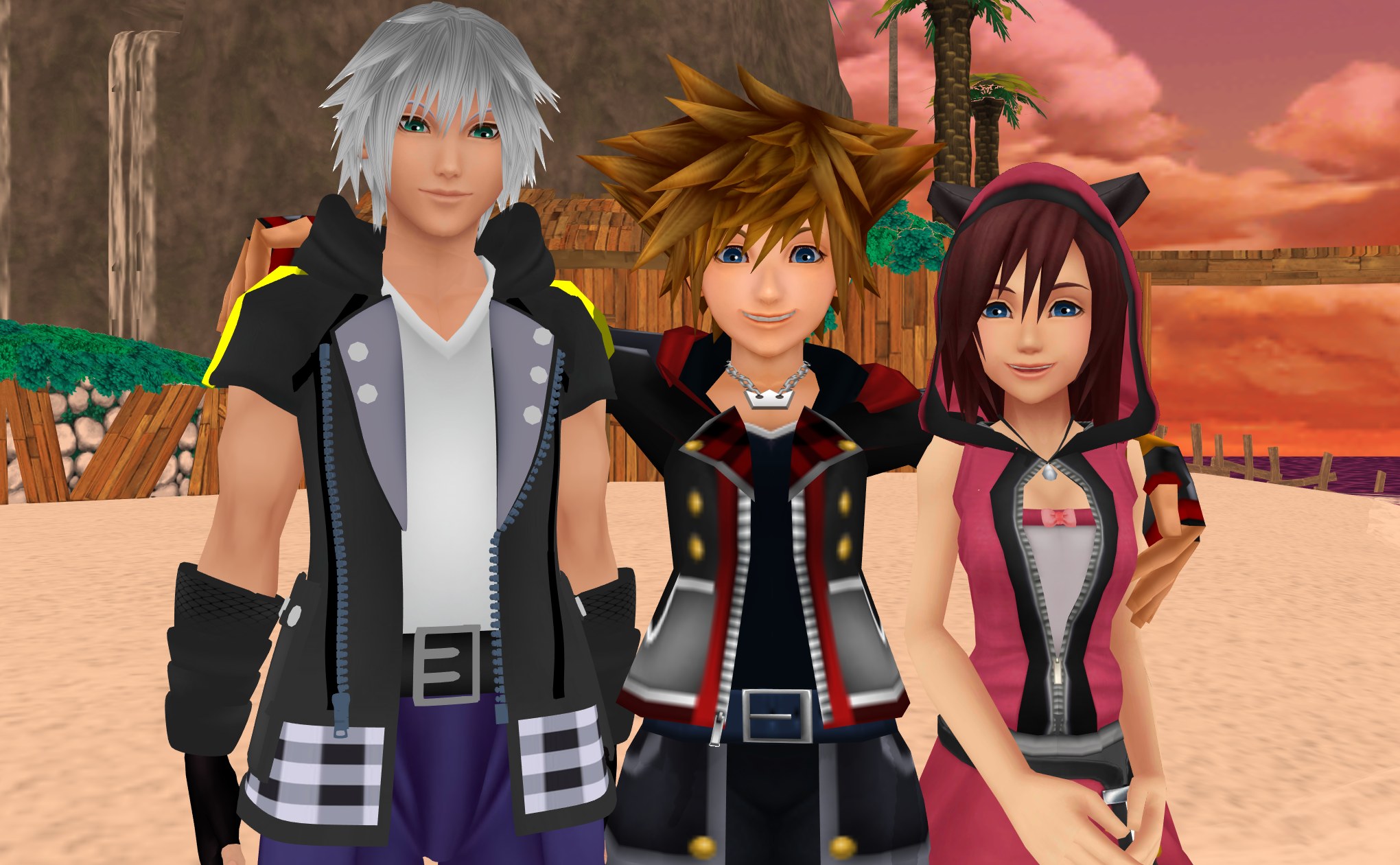 Kingdom Hearts Trios Afbeeldingen The Destiny Trios In Kh3 Sora Riku