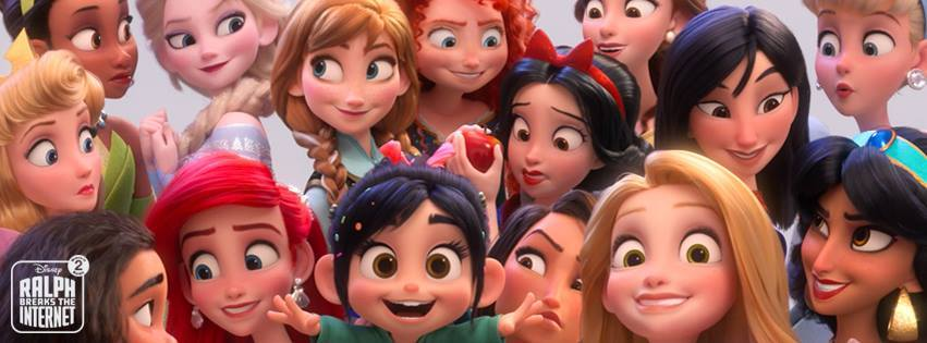 The Disney Princesses with Vanellope