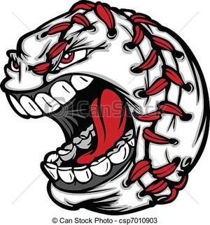 baseball ball cartoon face illustra eps vectors csp7010903