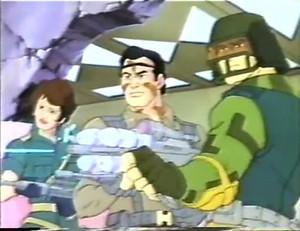 Bullhorn, Lady Jaye and Captain Grid-Iron Dic G.I.Joe cartoon series