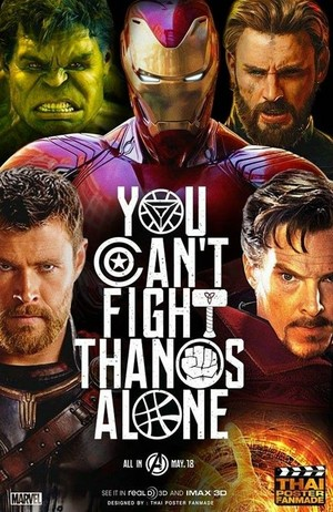 wewe cant fight thanos alone!