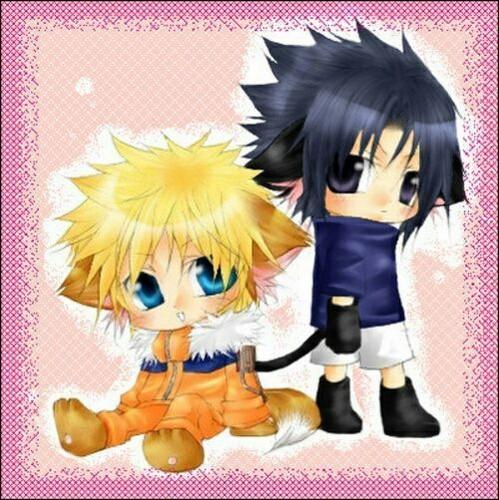 ऐनीमे वॉलपेपर titled cute chibi(Naruto)🌹
