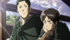 eren with his oben, nach oben <3
