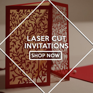 laser Cut invitations oleh 123WeddingCards