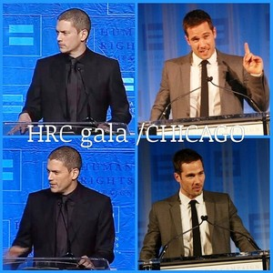 luke macfarlane and wentworth miller -HRC gala