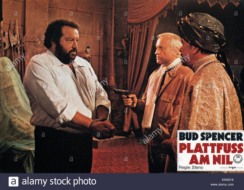 Bud Spencer karatasi la kupamba ukuta titled plattfuss bin nil italien 1980 aka piedone degitto regie steno monia bud spencer karl otto alberty a