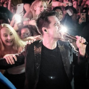 Brendon walking the Crowd.