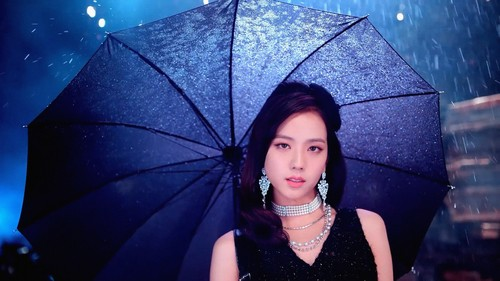 Black merah jambu kertas dinding called Jisoo