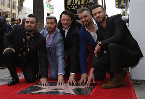 "Boy Bands Обои titled *NSYNC Receiving their звезда on ""The Hollywood Walk of Fame"""