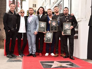 "*NSYNC Receiving their 星, つ星 on ""The Hollywood Walk of Fame"""