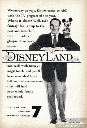 1954 Promo Ad For Disneyland