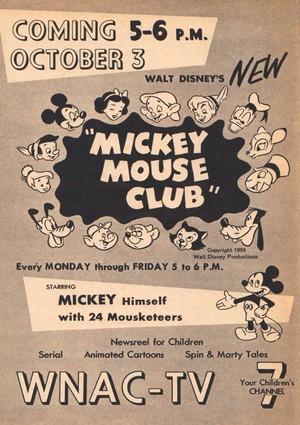 1955 Mickey topo, mouse Promo Ad