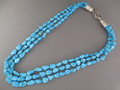 3-Strand Turquoise collar