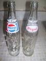 Vintage Glass Pepsi Bottles