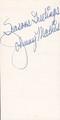A Vintage Johnny Mathis Autograph
