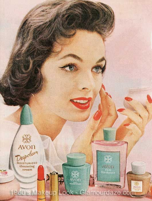cherl12345 (Tamara) Hintergrund titled A Vintage Promo Ad For Avon Cosmetics