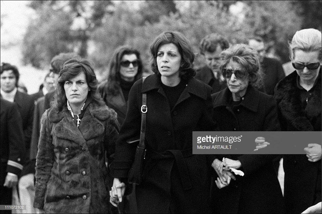 Aristotle Onassis' Funeral In 1975 - beroemdheden who died young