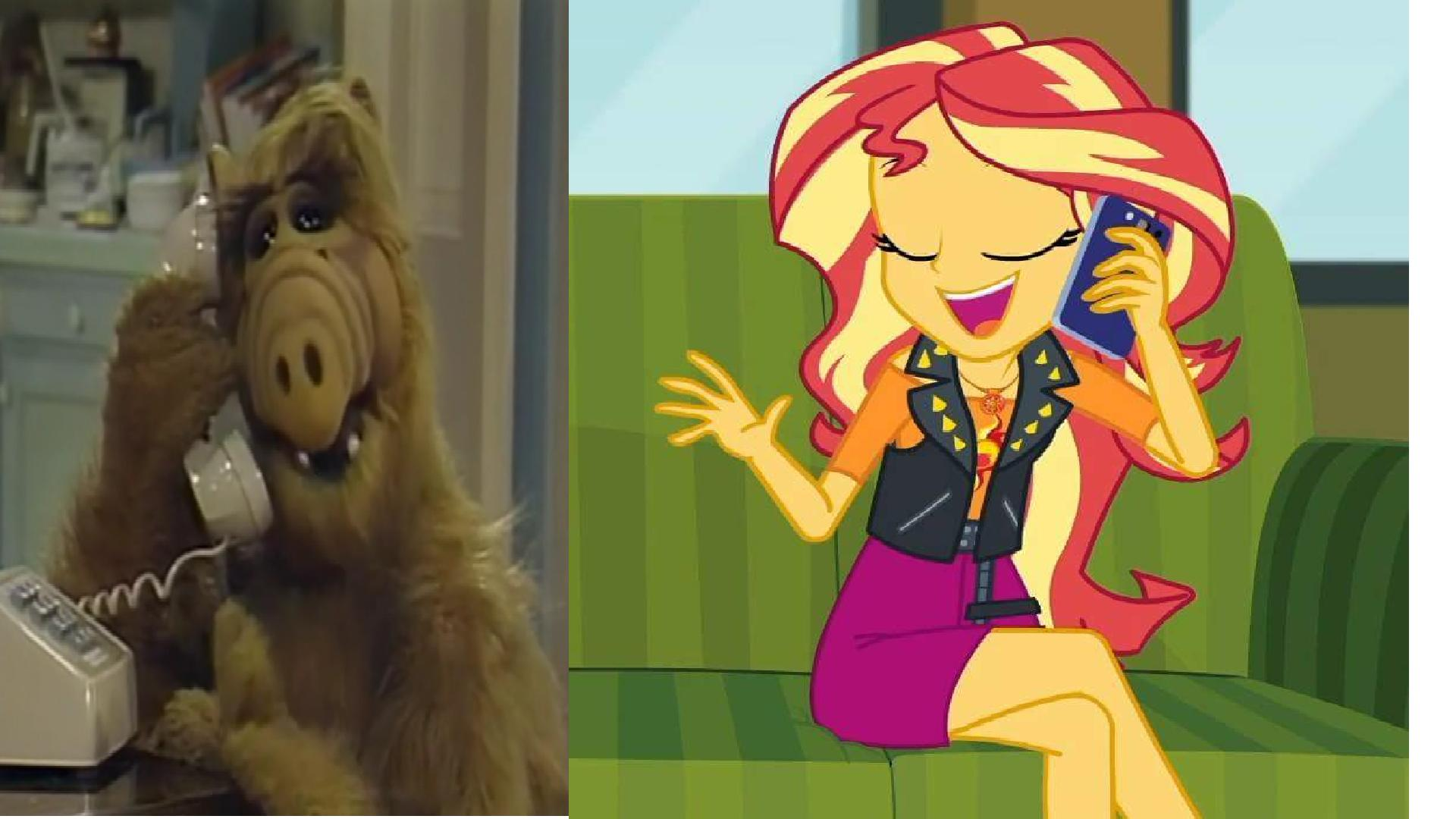 Alf Images Alf Phones To Sunset Shimmerjpg Hd Wallpaper And