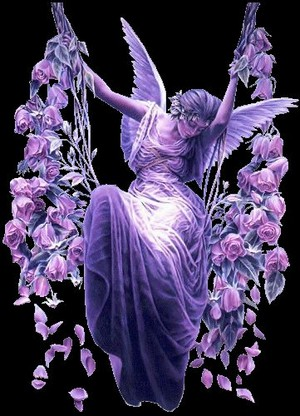 Angel in purple