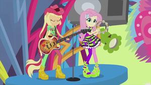 aguardente de maçã and Fluttershy perform Shine Like Rainbows EG2