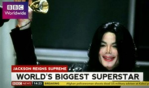 BBC World News calling Michael Jackson, the World's Biggest Superstar in 2006