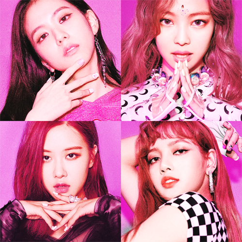 Black rosa Hintergrund entitled BLACKPINK 'SQUARE UP' POSTER