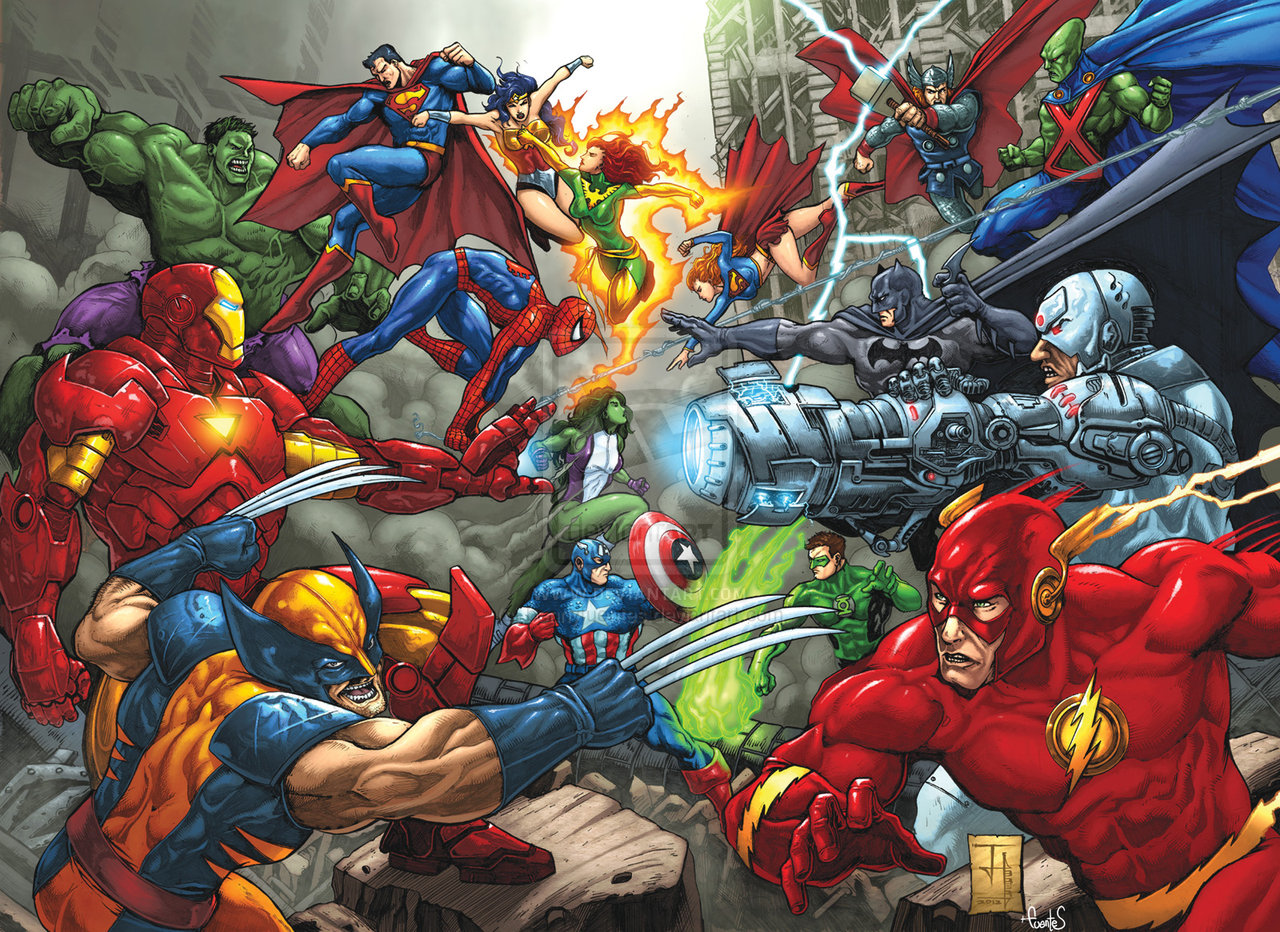 Marvel comics vs dc comics images banner marvel vs dc hd wallpaper and background photos 41414325 - Marvel and dc wallpapers ...