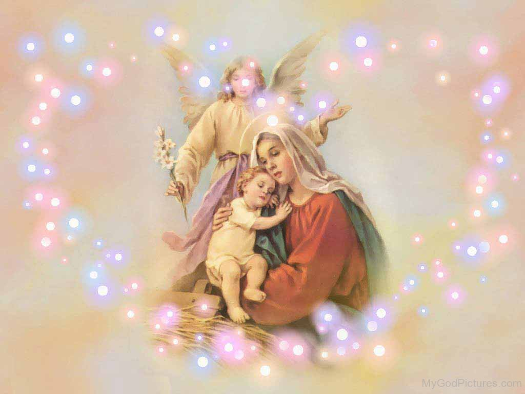 Beautiful Image Of Mother Marry With Jesus