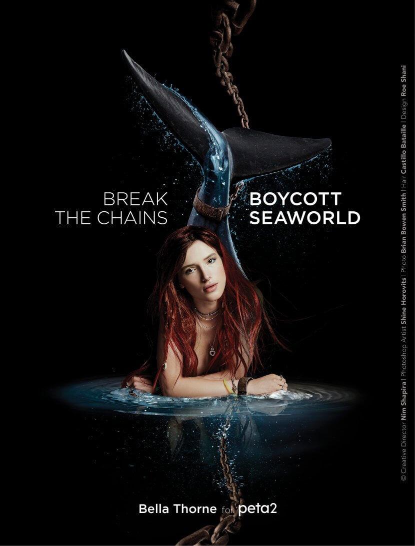 Bella Thorne - A Little Mermaid Boycotting Seaworld