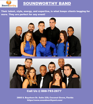 Best Corporate Band Miami | Soundworthy Entertainment Corp