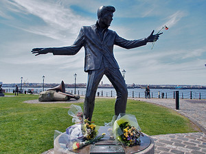Billy Fury On Albert Docks Liverpool