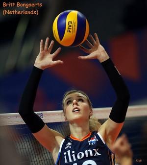 Britt Bongaerts hits the ball