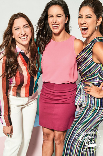 Brooklyn Nine-Nine karatasi la kupamba ukuta called Brooklyn Nine-Nine Cast at San Diego Comic Con 2018 - EW Portrait