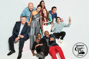 Brooklyn Nine-Nine Cast at San Diego Comic Con 2018 - EW Portrait