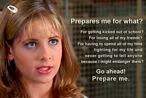 Buffy the Vampire Slayer پیپر وال entitled Buffy Quote S01E01 Welcome to the Hellmouth