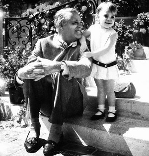 Cary Grant with daughter Jennifer