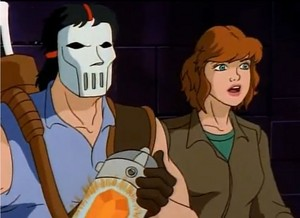 Casey Jones and April TMNT 1987