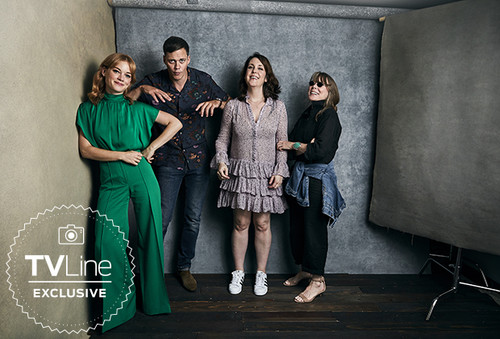kasteel Rock (Hulu) achtergrond titled kasteel Rock Cast at San Diego Comic Con 2018 - TVLine Portrait
