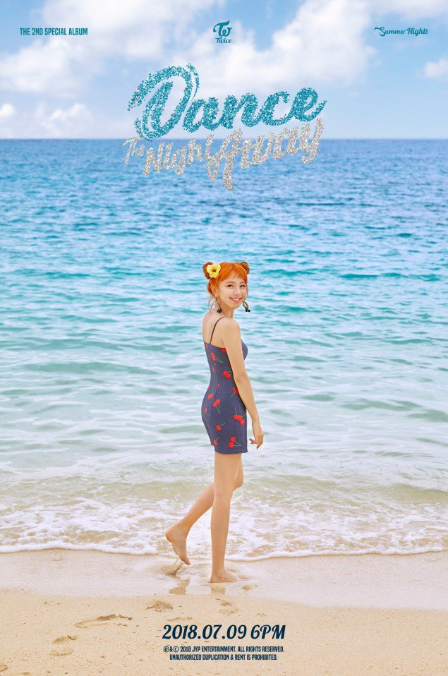 Chaeyoung's teaser image for 'Dance the Night Away'