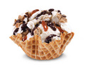 Chocolate Peanut Butter Wobble Cone - ice-cream photo