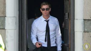 Chris in 런던 on set for new Men In Black movie