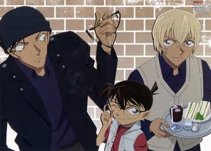 Conan, Akai, and Rei