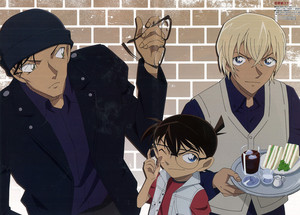 Conan, Akai, and Rei
