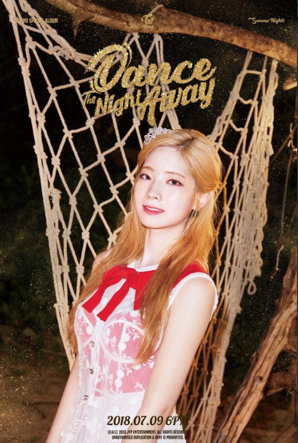 Dahyun's teaser image for 'Dance the Night Away'