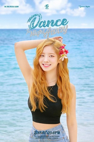 Dahyun's teaser image for 'Dance the Night Away'