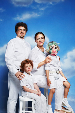 Danny McBride and Maya Rudolph - Awkward Family foto's for GQ - 2013